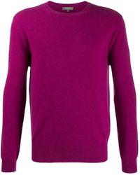 N.Peal Cashmere Джемпер The Oxford С Круглым Вырезом - Пурпурный