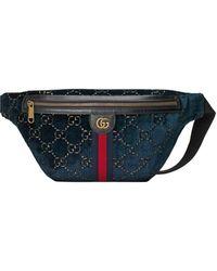 Gucci Gürteltasche aus Samt - Blau
