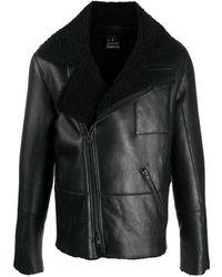 Ann Demeulemeester ジップアップ レザージャケット - ブラック