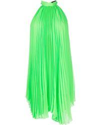 Styland Плиссированное Платье С Завязками Сзади - Зеленый