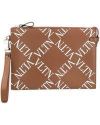Valentino Garavani Vltn Clutch - Brown