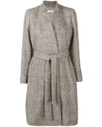 Peserico - Plaid Belted Coat - Lyst