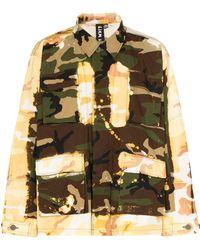Liam Hodges Acid-effect Camouflage Print Jacket - Green