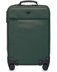 Prada レザー スーツケース - グリーン