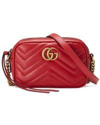 55db71b5b718 Gucci Gg Marmont 2.0 Matelassé Leather Shoulder Bag in Pink - Save ...