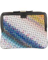Missoni Colour-block Zig Zag Clutch - Multicolor