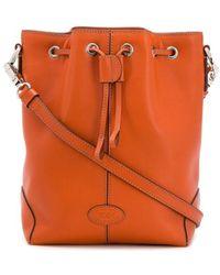 Tod's Drawstring Bucket Bag - Orange