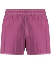 Isabel Marant Logo Patch Swimming Shorts - Purple