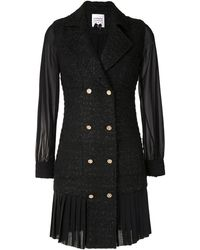 Edward Achour Paris ダブルブレスト ドレス - ブラック