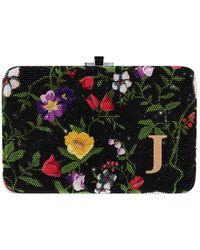 Judith Leiber Morning Glory Slim Slide Customizable Monogram Bag - Metallic