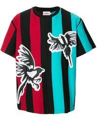 CHARLES JEFFREY LOVERBOY ストライプ Tシャツ - マルチカラー