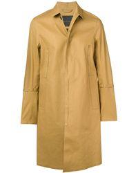 Mackintosh 0004 Autumn Bonded Cotton 0004 Embroidered Coat - Natural
