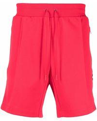 COACH Logo Trim Jersey Shorts - Red