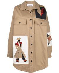 Monse パッチ シャツジャケット - マルチカラー