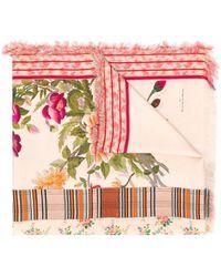 Pierre Louis Mascia Floral Print Scarf - Multicolour