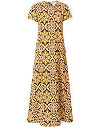 LaDoubleJ Palazzo Swing Dress - Yellow