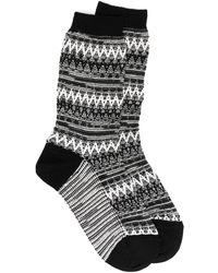 Missoni ジグザグニット 靴下 - ブラック
