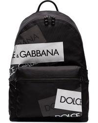 Dolce & Gabbana Street Rugtas Met Logo Band - Zwart