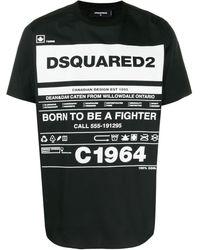 DSquared² T-Shirt mit Print - Schwarz