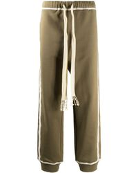 Loewe Anagram Embroidered Track Trousers - Green