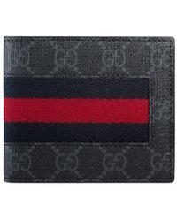 Gucci GG Supreme Web Coin Wallet - Black