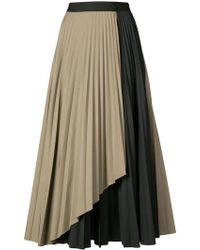 TOME - Contrast Pleated Skirt - Lyst