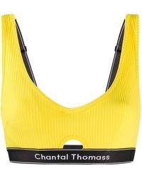 Chantal Thomass Honore Logo Bra - Yellow