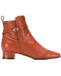 L'Autre Chose Mid Ankle Boots - Brown