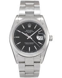 Rolex Наручные Часы Oyster Perpetual Date Pre-owned 34 Мм 1998-го Года - Черный