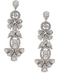 Monan Drop Earrings - Metallic