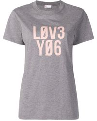 RED Valentino Love プリント Tシャツ - グレー