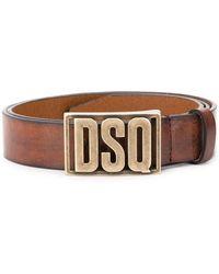 DSquared² - Cinturón con placa del logo - Lyst