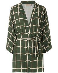 Adriana Degreas Короткое Платье-рубашка - Зеленый