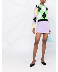 Versace Джемпер Вязки Интарсия С Узором - Зеленый