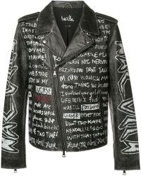 Haculla - Text Print Biker Jacket - Lyst
