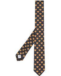 Moschino Cravate Teddy imprimée - Noir