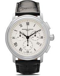 Frederique Constant Reloj Classic Quartz Chronograph de 40mm - Blanco