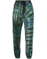 Raquel Allegra Tracker Tie-dye Track Trousers - Green