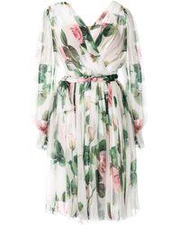 Dolce & Gabbana Jurk Met Rozenprint - Meerkleurig