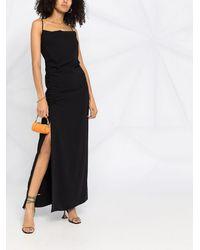 P.A.R.O.S.H. サイドスリット ドレス - ブラック