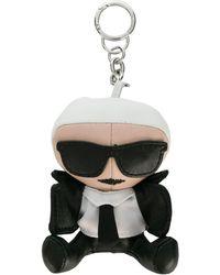 Karl Lagerfeld Ikonik Karl Doll Keyring - Black