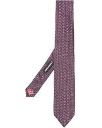 DSquared² Cravate en intarsia - Rouge