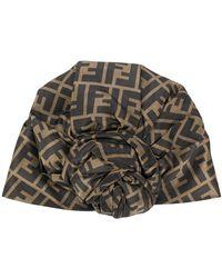 Fendi Шляпа С Логотипом Ff - Коричневый