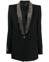 Philipp Plein Spike-studded Blazer - Black
