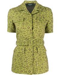 Rochas Топ С Вышивкой И Поясом - Зеленый