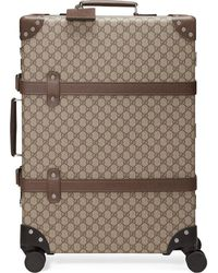 Gucci X Globe-trotter GGスプリーム スーツケース - ブラウン