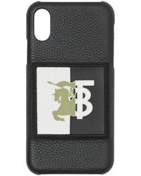 Burberry Coque d'iPhone X/XS à logo - Noir