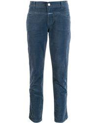 Closed Slim Fit Corduroy Pants - Blue