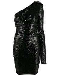 Versace Jeans Couture Robe asymétrique brodée de sequins - Noir