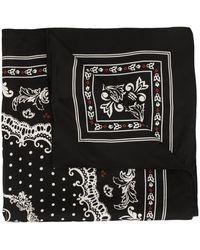 Dolce & Gabbana Zijden Sjaal - Zwart